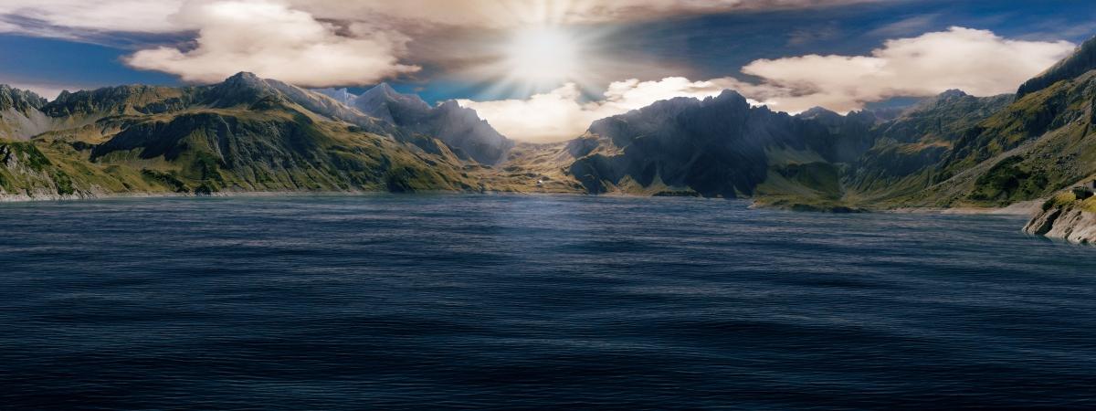 奥地利-福拉尔贝格-湖-山 8k风景图片