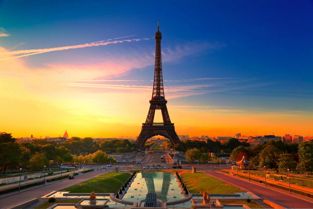 埃菲尔铁塔风景摄影图片