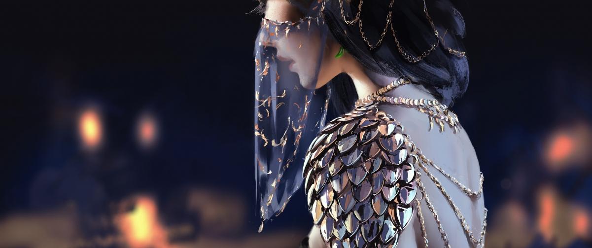 风玲 北漠公主 面纱 鬼刀3440x1440超高清壁纸精选