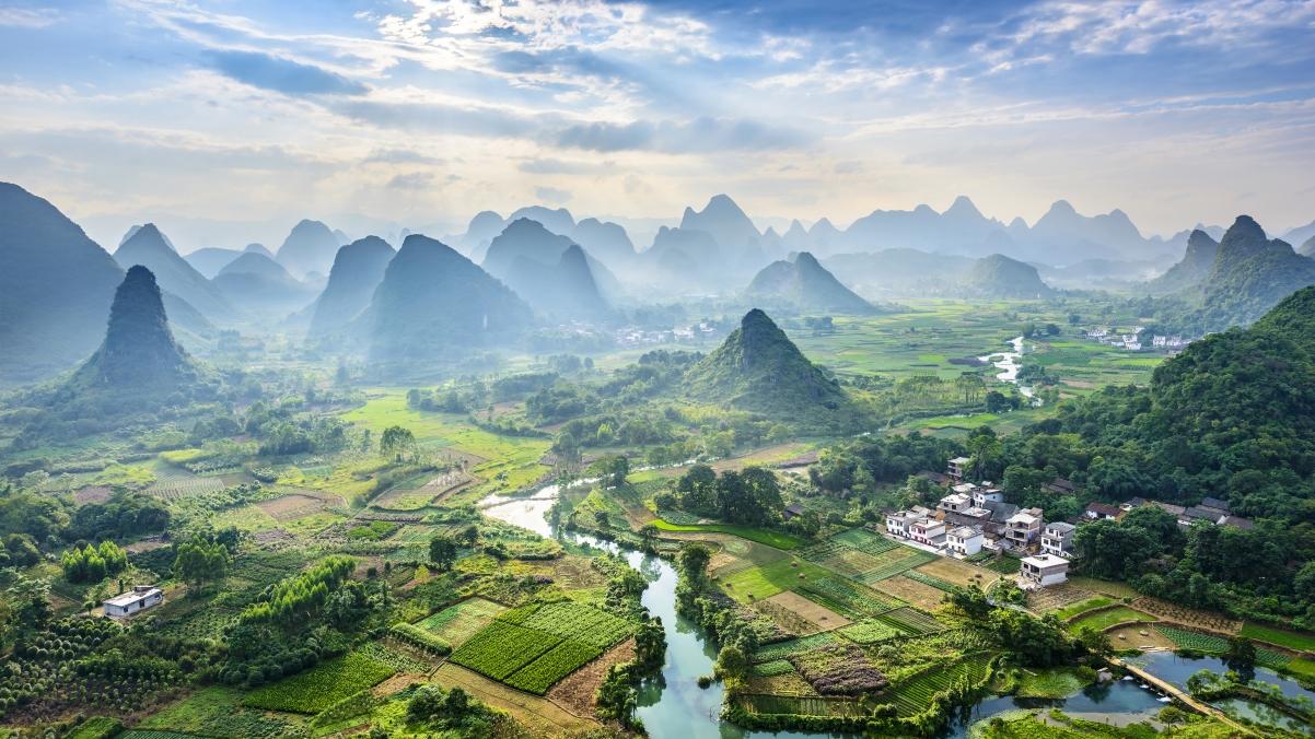 桂林山水自然风景4k电脑高端电脑桌面壁纸3840x2160