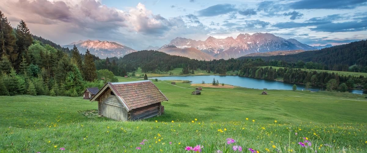 阿尔卑斯山脉风景3440x1440超高清壁纸精选
