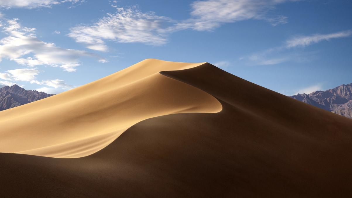 苹果macOS Mojave 莫哈韦沙漠风景5k超高清壁纸精选 白天