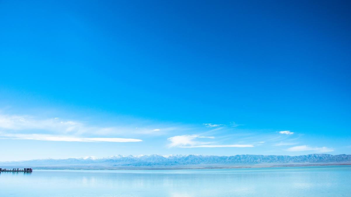 青海湖蓝天白云风景4k超高清壁纸精选
