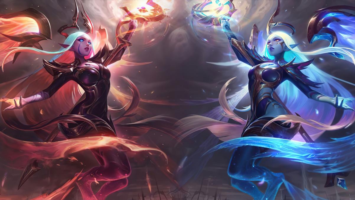 lol英雄联盟黑夜使者 黎明使者索拉卡4k原画游戏壁纸3840x2160