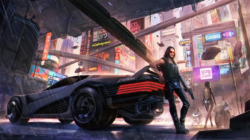 《赛博朋克 2077Cyberpunk 2077》车 城市 4K高清电脑壁纸高端桌面精选 3840x2160