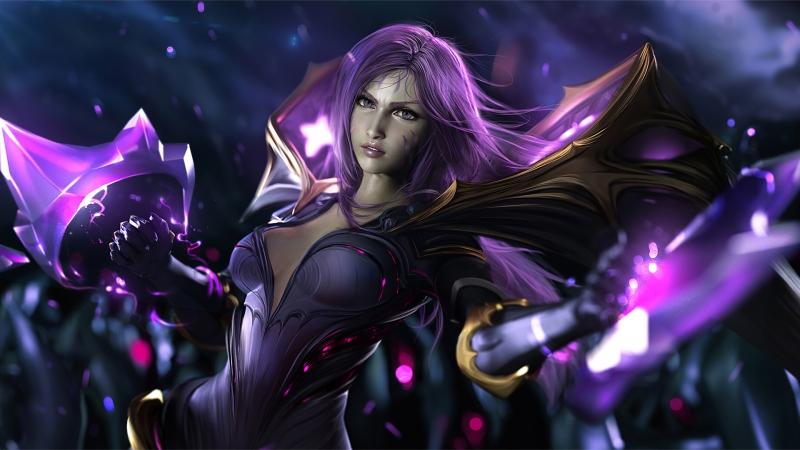 《英雄联盟(LOL)》虚空之女Kaisa凯莎 4K游戏高清壁纸高端桌面精选 3840x2160