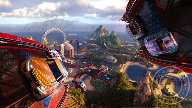 《赛道狂飙2:环礁湖国区-trackmania 2 lagoon》 4K高清壁纸高端桌面精选 3840x2160