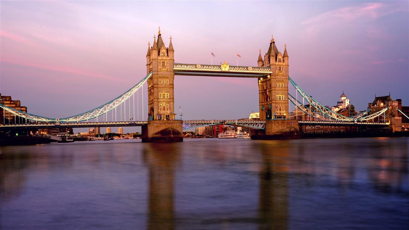 泰晤士河,塔桥,日落,伦敦,英国高端桌面精选 3840x2160