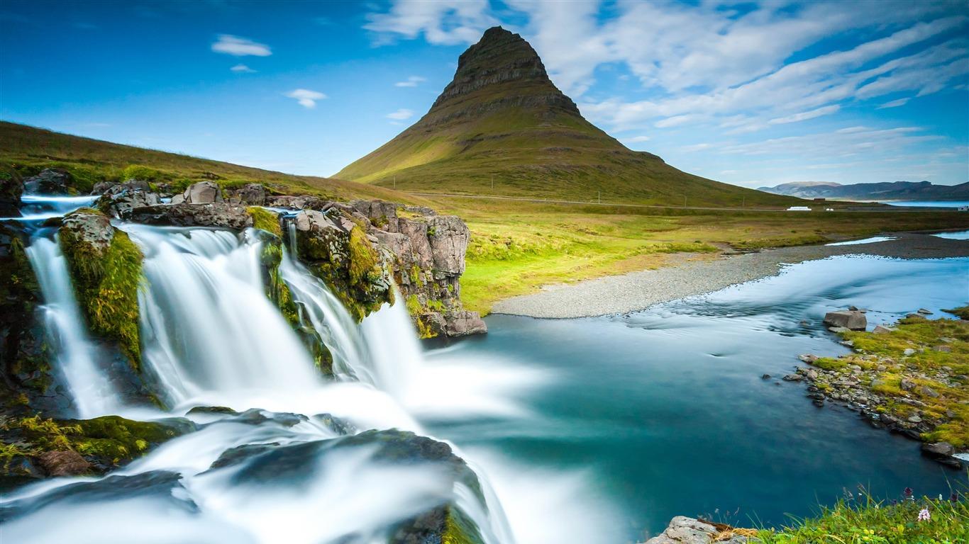 冰岛,雷克雅未克,山,瀑布,河流高端桌面精选 3840x2160