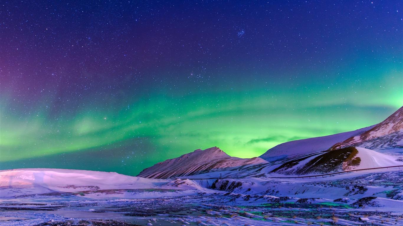 美丽,冬季,极光,雪,高原高端桌面精选 3840x2160