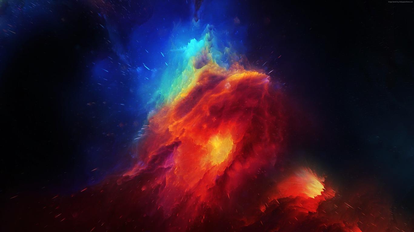红,蓝,马头,星云,2022,4K,高清高端桌面精选 3840x2160