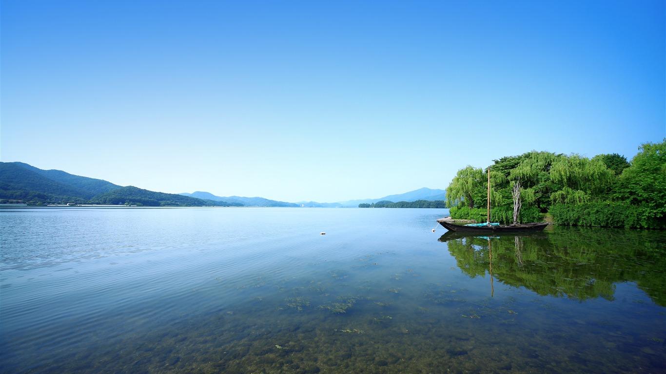蓝天,湖,天际线,2022,自然风光,照片高端桌面精选 3840x2160