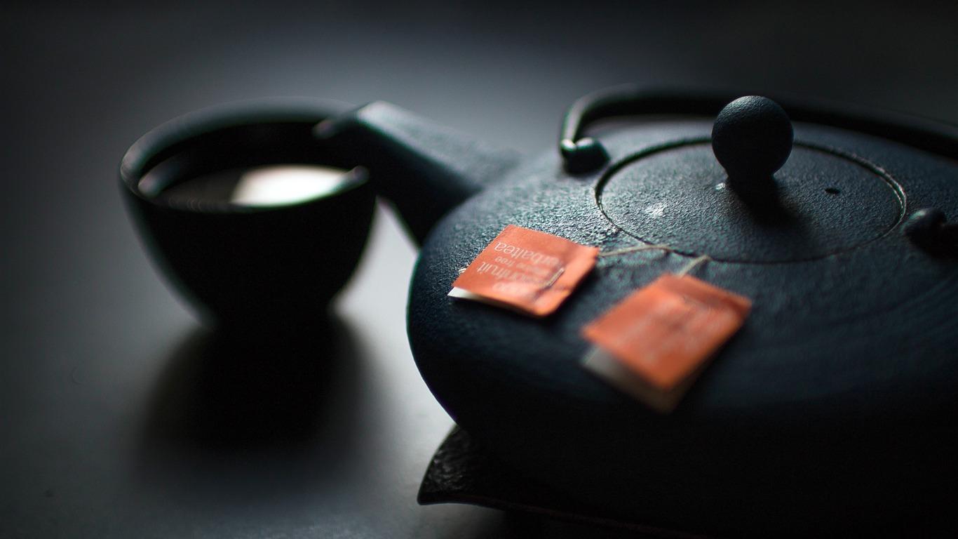 黑色,陶瓷,茶壶,茶杯,特写高端桌面精选 3840x2160