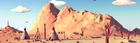 低多边形荒野西部插画极品游戏桌面精选4K+高清壁纸