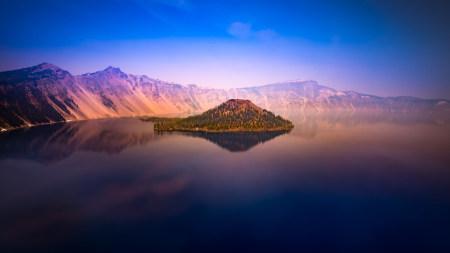 美国俄勒冈州火山口湖高端桌面4K+高清壁纸图片