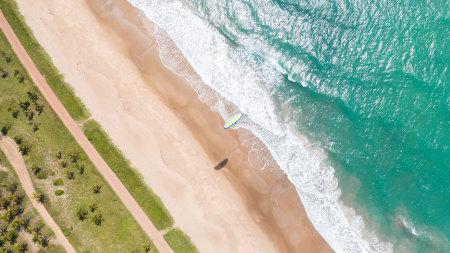 海滩鸟瞰图高端桌面4K+高清壁纸图片
