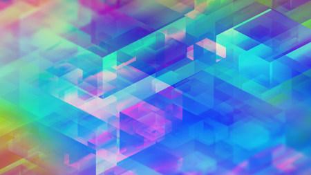 彩色3D方形背景极品游戏桌面精选4K+高清壁纸