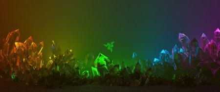 雷蛇彩色晶体背景极品游戏桌面精选4K+高清壁纸