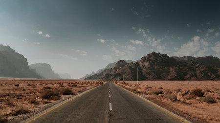 沙漠公路高端桌面4K+高清壁纸图片