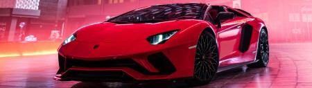 红色兰博基尼Aventador S超级跑车极品游戏桌面精选4K+高清壁纸