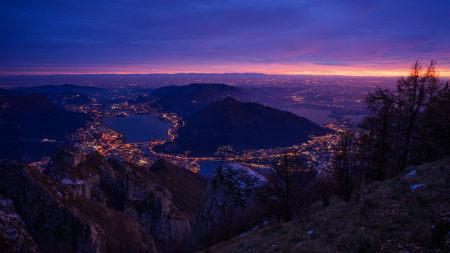 山上俯瞰城市夜景极品壁纸推荐高清壁纸