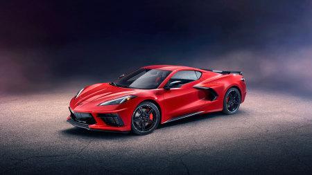 2020款红色红色雪佛兰科尔维特Stingray Z51百变桌面精选高清壁纸