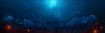 蓝色拱形星云高端桌面4K+高清壁纸图片