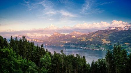 瑞士苏黎世湖风景高端桌面4K+高清壁纸图片