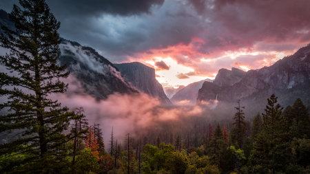 约塞米蒂山谷早晨风景高端桌面4K+高清壁纸图片