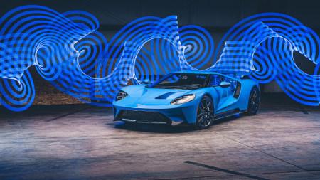 蓝色福特GT跑车高端桌面4K+高清壁纸图片