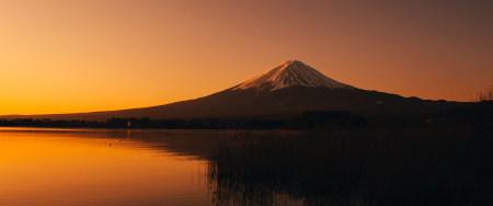富士河口湖日落风景高端桌面4K+高清壁纸图片