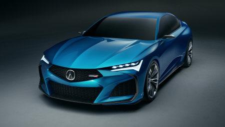蓝色讴歌Type S Concept百变桌面精选高清壁纸