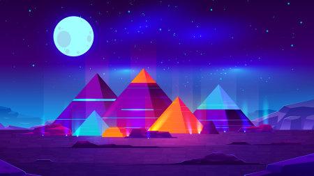 彩色金字塔插画极品游戏桌面精选4K+高清壁纸