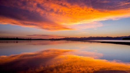 日落湖泊风景高端桌面4K+高清壁纸图片
