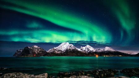 湖泊 北极光高端桌面4K+高清壁纸图片