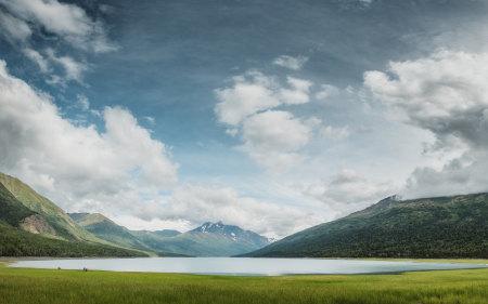 美国安克雷奇伊克卢特纳湖风景高端桌面4K+高清壁纸图片
