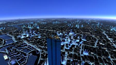 镜之边缘城市夜景高端桌面4K+高清壁纸图片