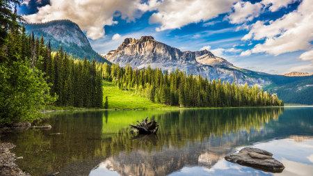加拿大幽鹤国家公园翡翠湖风景高端桌面4K+高清壁纸图片