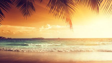海滩日落风景高端桌面4K+高清壁纸图片