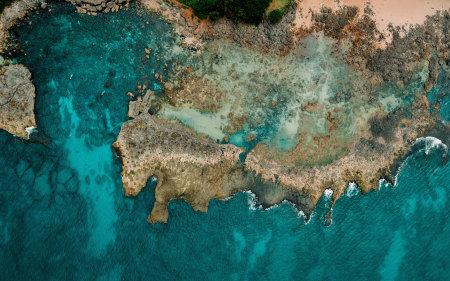 太平洋海岸鸟瞰图高端桌面4K+高清壁纸图片