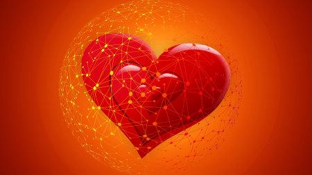 红色爱心高端桌面4K+高清壁纸图片