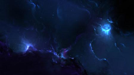 蓝色星空高端桌面4K+高清壁纸图片
