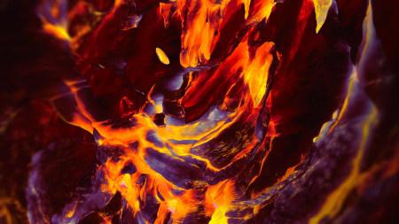 一加手机内置火山岩浆百变桌面精选高清壁纸