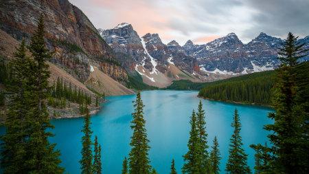 加拿大班夫国家公园梦莲湖高端桌面4K+高清壁纸图片