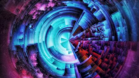 彩色抽象圆环背景极品游戏桌面精选4K+高清壁纸