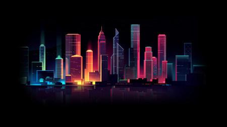 城市夜景插画极品游戏桌面精选4K+高清壁纸