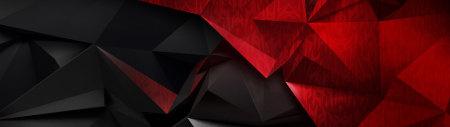 红黑低多边形背景高端桌面4K+高清壁纸图片
