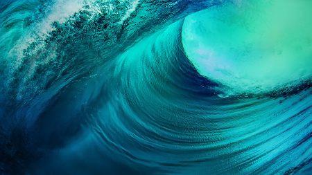 vivo  NEX 3蓝色海浪高端桌面4K+高清壁纸图片