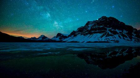 夜晚的湖泊风景高端桌面4K+高清壁纸图片