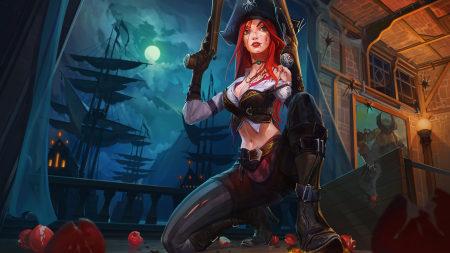 英雄联盟:赏金猎人-厄运小姐高端桌面4K+高清壁纸图片